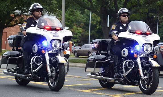 Police Officers on Motorcycles