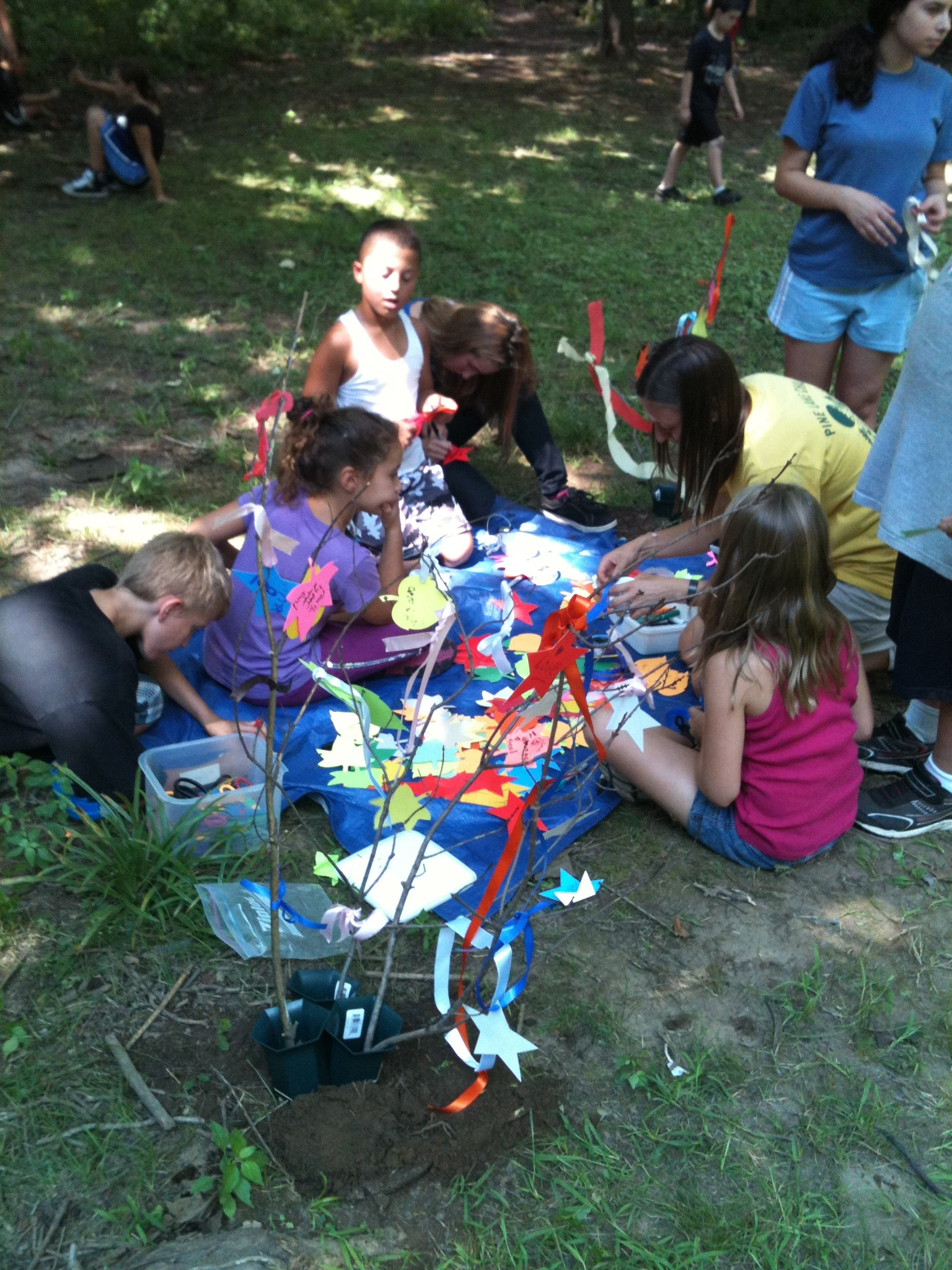 Group doing Crafts
