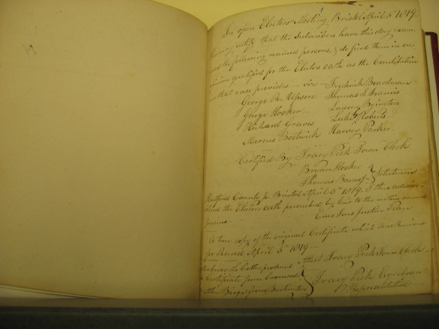 1819 Admission of Electors Book First Page
